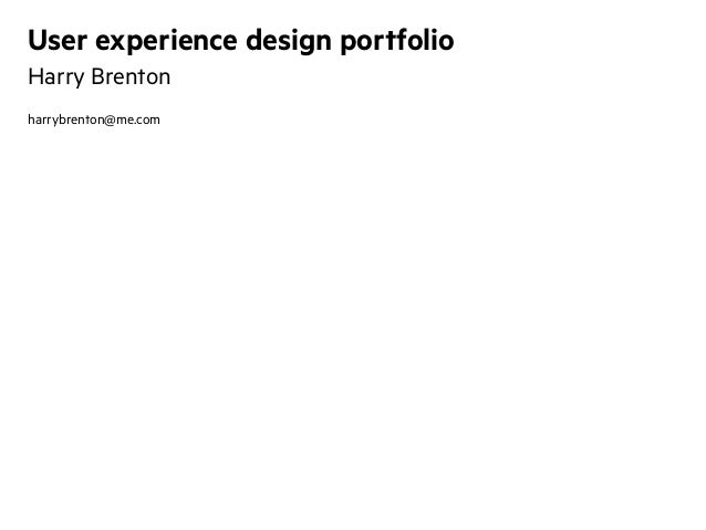 Experience design management portfolio