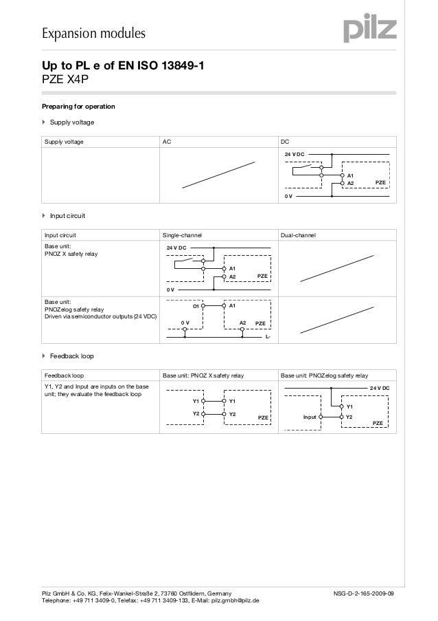 pze x4 p en 3 expansion modules pilz