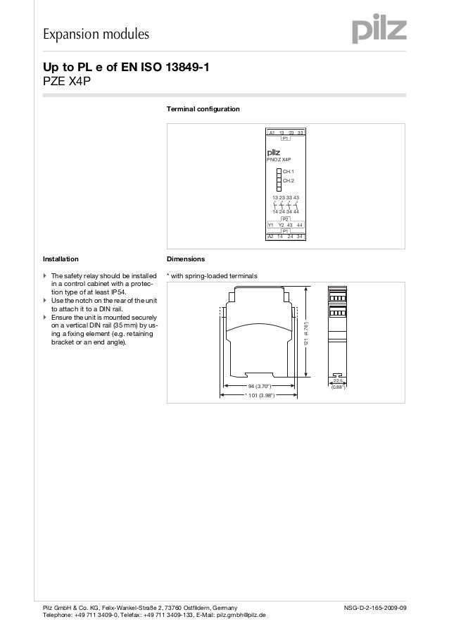 safety relay pnoz s3 wiring diagram