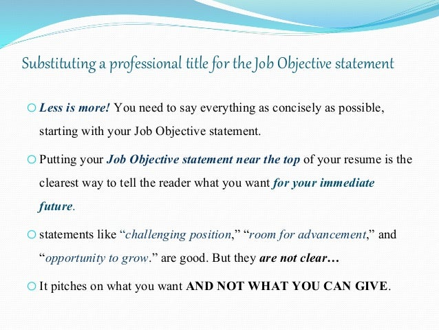 Resume Writing Draft