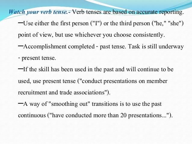 resume third person