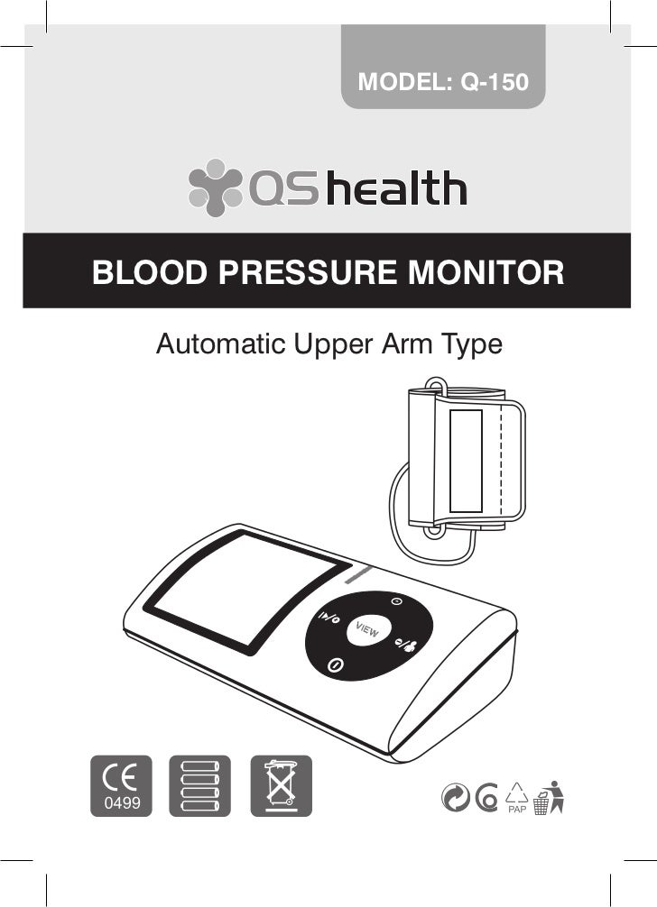 MODEL: Q-150BLOOD PRESSURE MONITOR   Automatic Upper Arm Type                               1