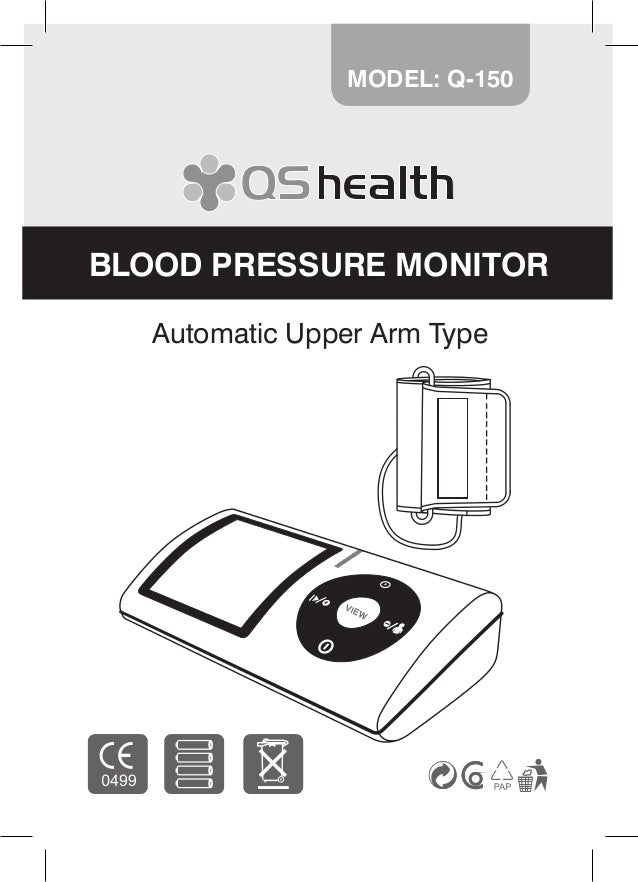 1 Automatic Upper Arm Type MODEL: Q-150 BLOOD PRESSURE MONITOR