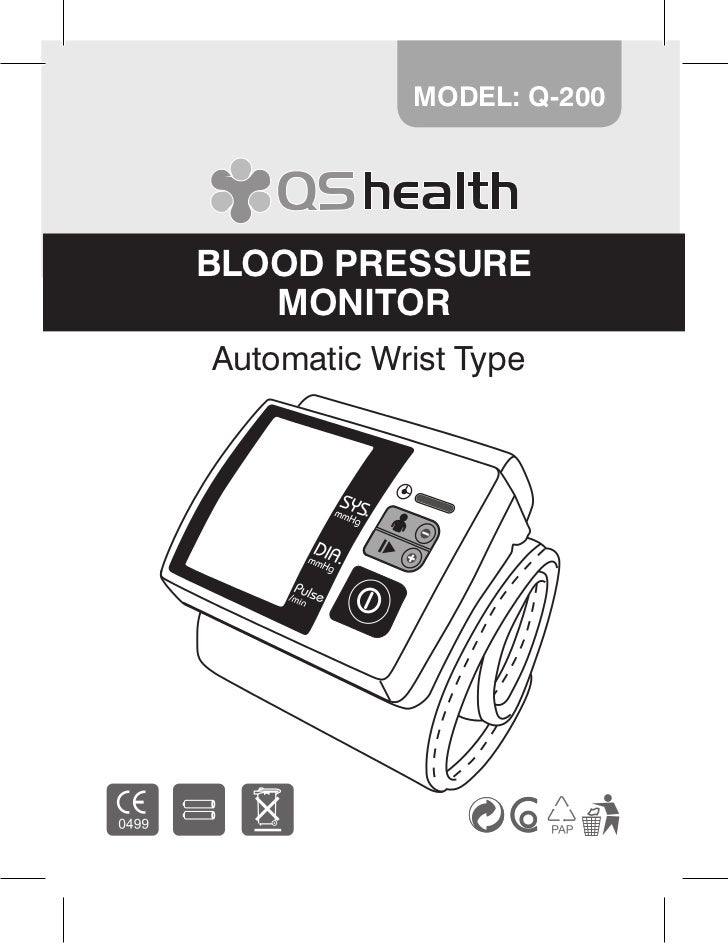 MODEL: Q-200BLOOD PRESSURE   MONITORAutomatic Wrist Type                           1