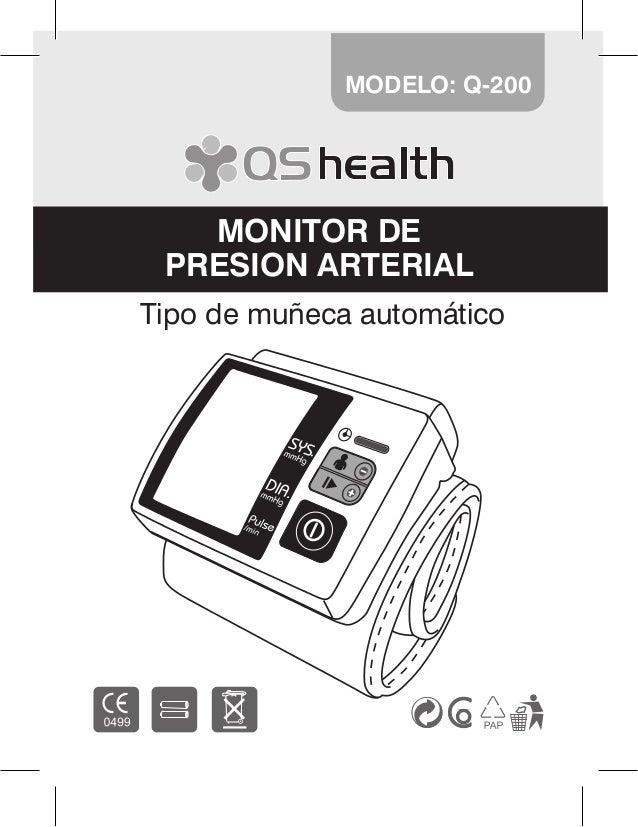 1 Tipo de muñeca automático MODELO: Q-200 MONITOR DE PRESION ARTERIAL