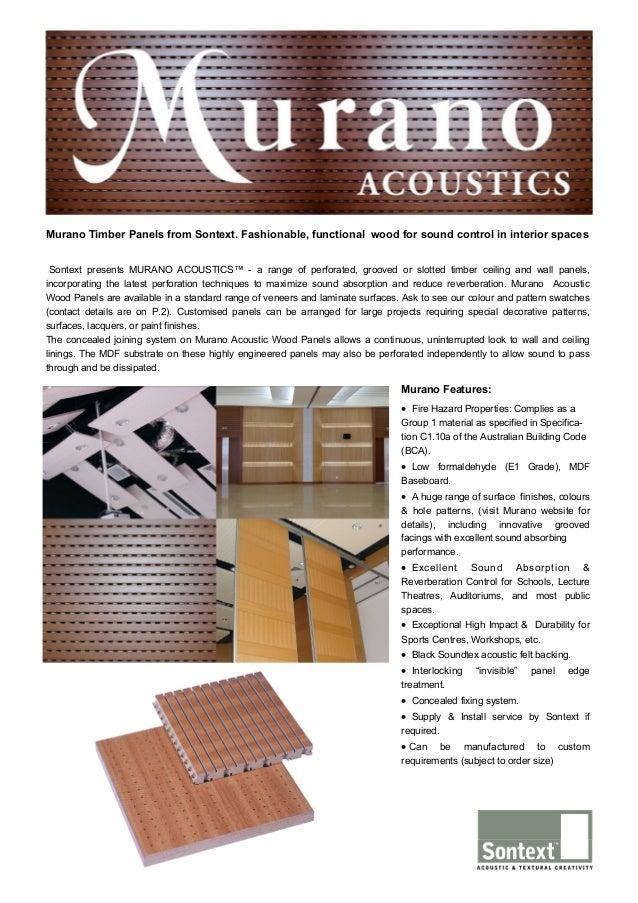 Murano Acoustics Wood Panels Brochure