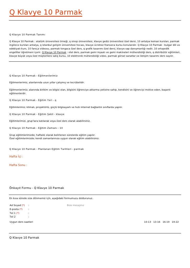 Q Klavye 10 ParmakQ Klavye 10 Parmak TanımıQ Klavye 10 Parmak : atatürk üniversitesi örneği, q sinop üniversitesi, klavye ...