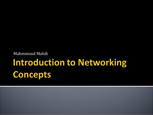 Introduction to Networking