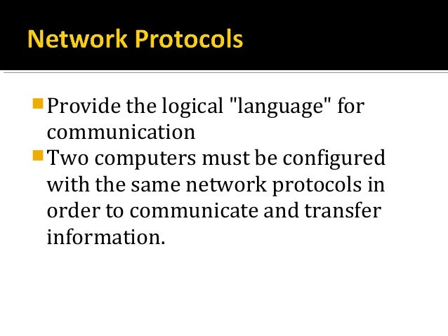 when using tcp ip which of the following must computers on the same logical network Communication networks/tcp and udp are the siblings of the transport layer in the tcp/ip protocol suite they perform the same role, providing an interface between after receiving the data,computer must have some mechanism what to do with itconsider that user has three.