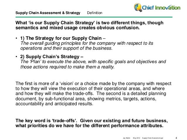 supply chain strategy assessment