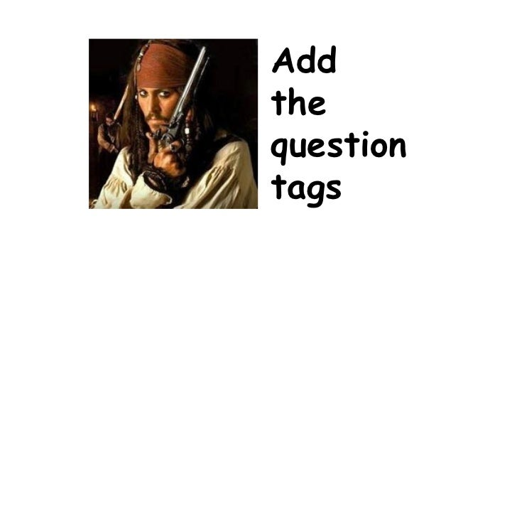 Add the question tags