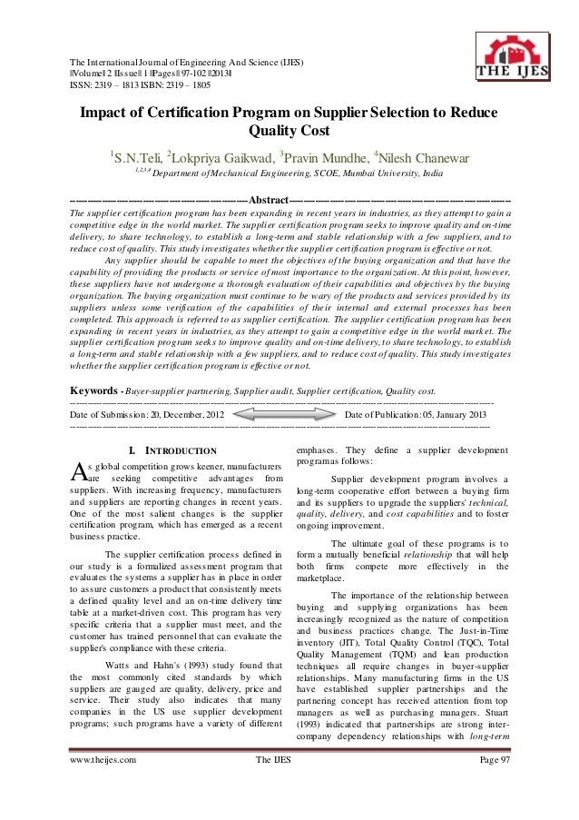 The International Journal of Engineering And Science (IJES)||Volume|| 2 ||Issue|| 1 ||Pages|| 97-102 ||2013||ISSN: 2319 – ...