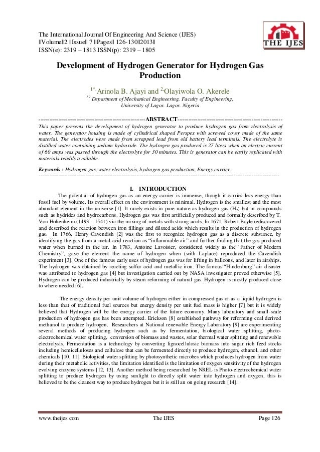 The International Journal Of Engineering And Science (IJES) ||Volume||2 ||Issue|| 7 ||Pages|| 126-130||2013|| ISSN(e): 231...