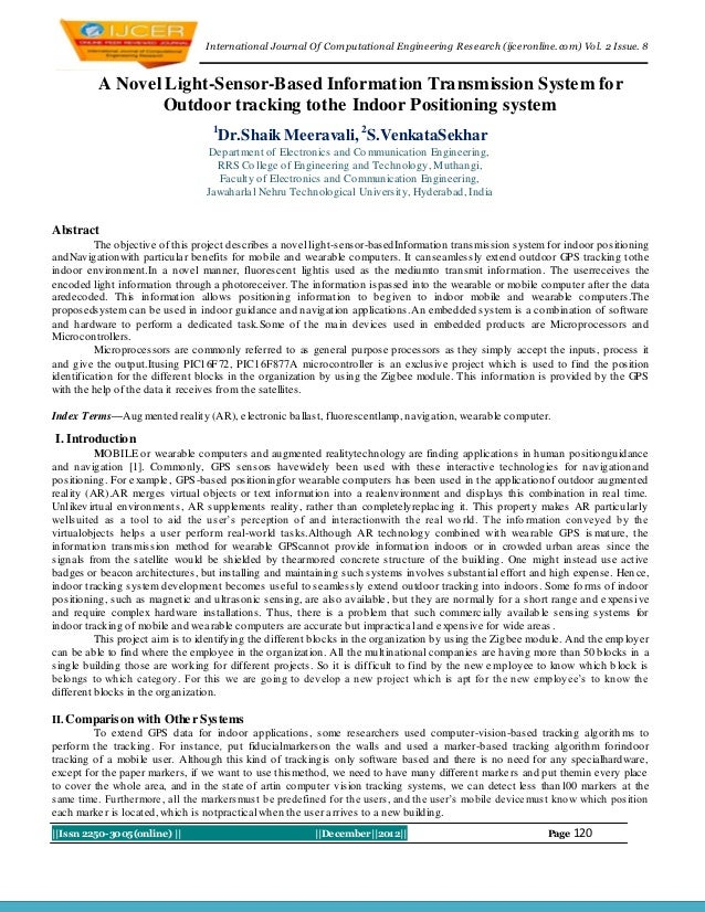 I nternational Journal Of Computational Engineering Research (ijceronline.com) Vol. 2 Issue. 8          A Novel Light-Sens...