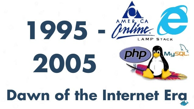 """OS in 1995 - 2005 • Browser becomes gateway to Internet applications • Desktop ruled by Windows • Linux emerges as the """"OS..."""