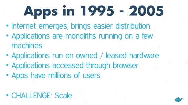 2005 - 2015 Distributed Applications Era