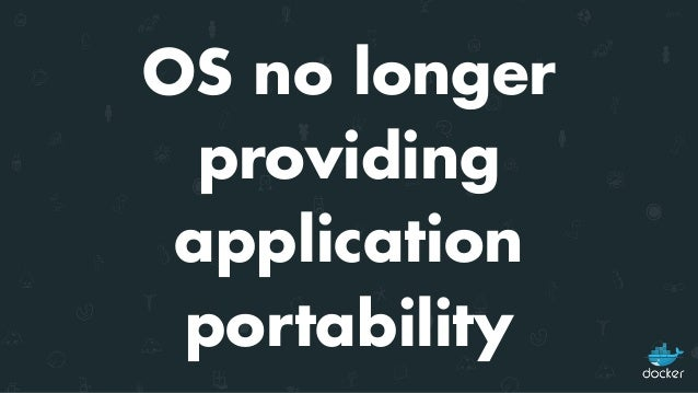 OS needs to evolve to meet Application