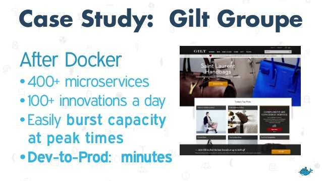 Case Study: ING After Docker •15 minutes from commit to live • 1,500 deployments per week