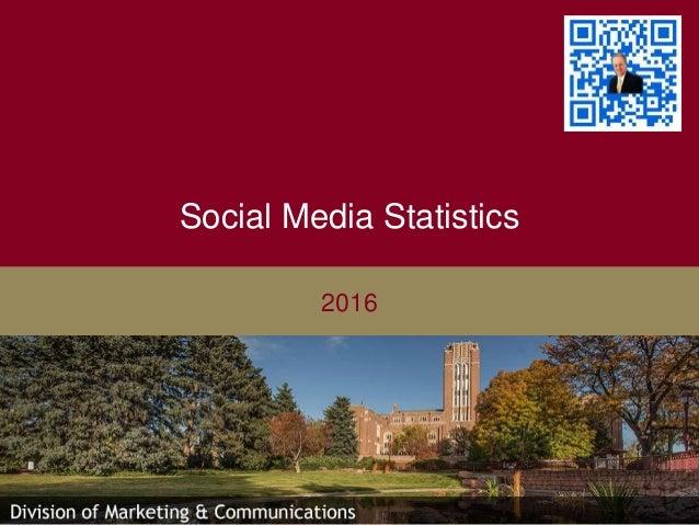 Social Media Statistics 2016