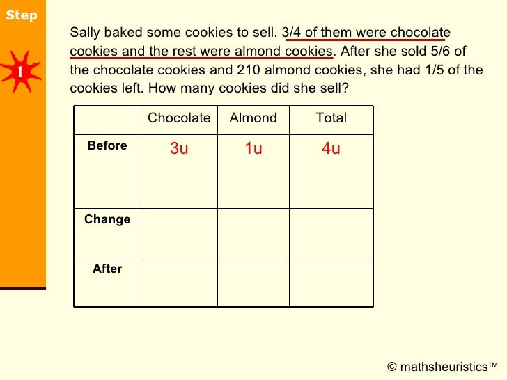 <ul><li>Sally baked some cookies to sell. 3/4 of them were chocolate cookies and the rest were almond cookies. After she s...