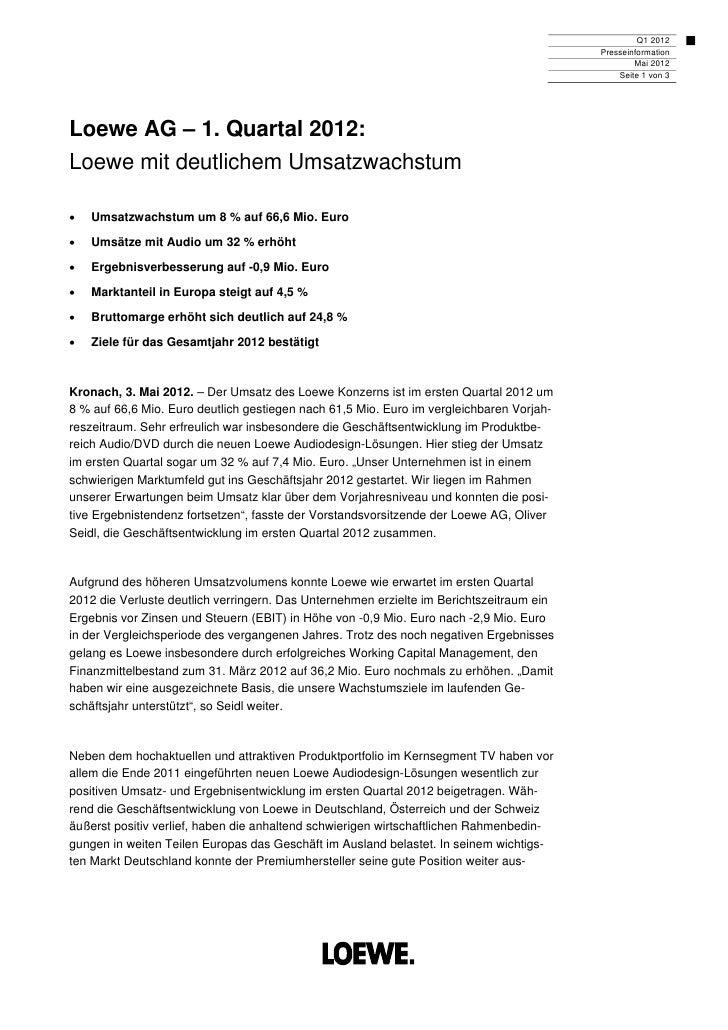 Q1 2012                                                                                          Presseinformation        ...