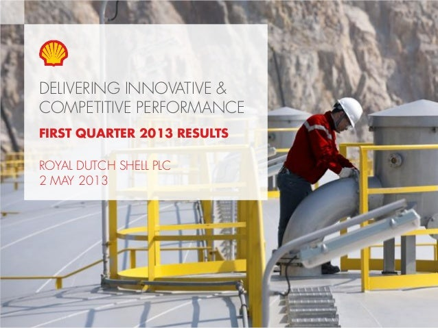 Copyright of Royal Dutch Shell plc 2 May, 2013 1DELIVERING INNOVATIVE &COMPETITIVE PERFORMANCEFIRST QUARTER 2013 RESULTSRO...
