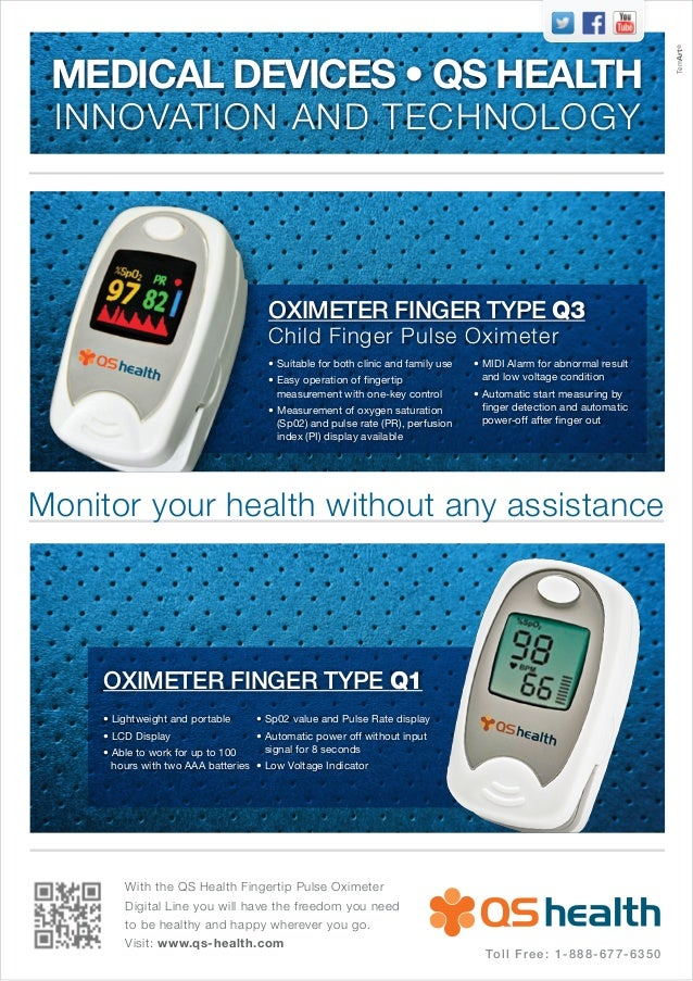 With the QS Health Fingertip Pulse OximeterDigital Line you will have the freedom you needto be healthy and happy wherever...