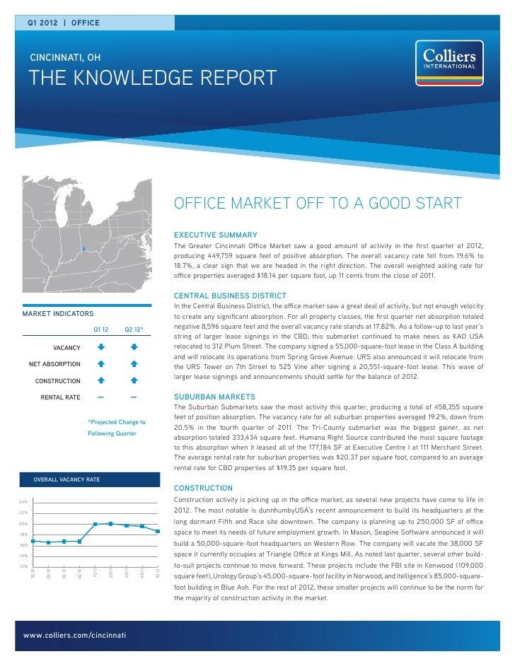 Q1 2012 | office      cincinnati, oh      the knowledge report                                                            ...
