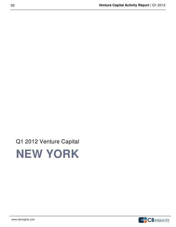 Q1 2012 venture capital activity report cb insights final- - 웹