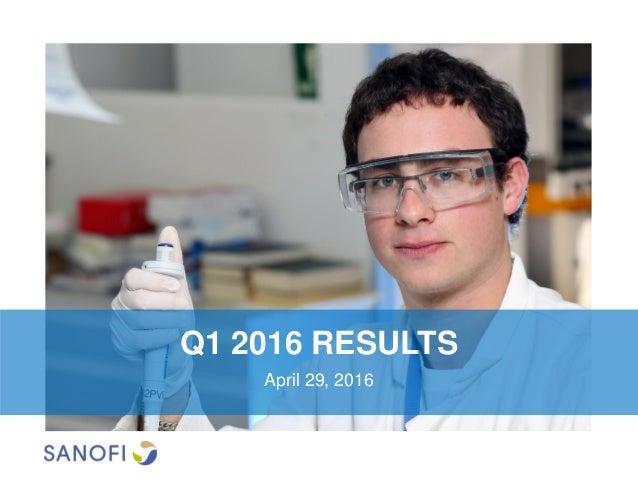 Q1 2016 RESULTS April 29, 2016