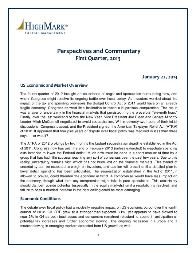 PerspectivesandCommentary                                    FirstQuarter,2013                                     ...