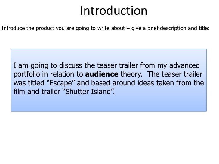 Introduction<br />Introduce the product you are going to write about – give a brief description and title:<br />I am going...