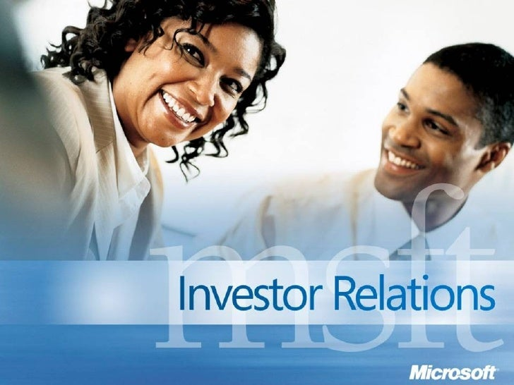 Microsoft Earnings Call, Q3 2008 Slide 1
