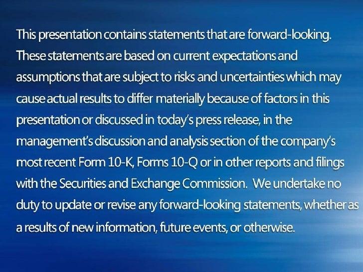 Microsoft Earnings Call, Q3 2008 Slide 3
