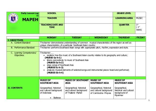Of Show My || Mapeh Grade 8 Dll