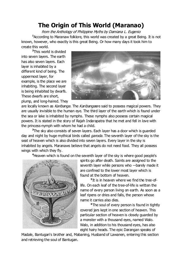 Q1 L2 The Origin Of This World Maranao