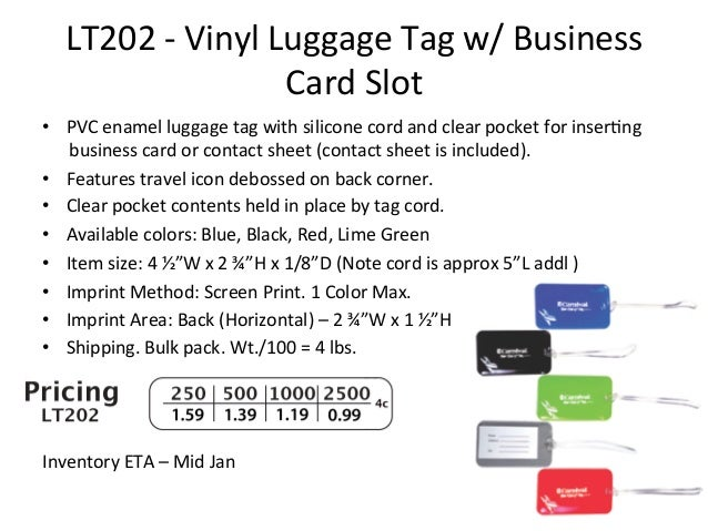 Jetlines 2013 new items 64 lt202 vinyl luggage tag w business card reheart Image collections