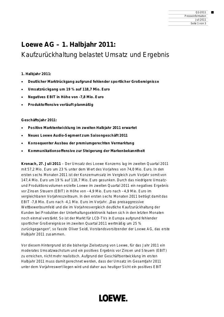 Q2-2011                                                                                         Presseinformation         ...