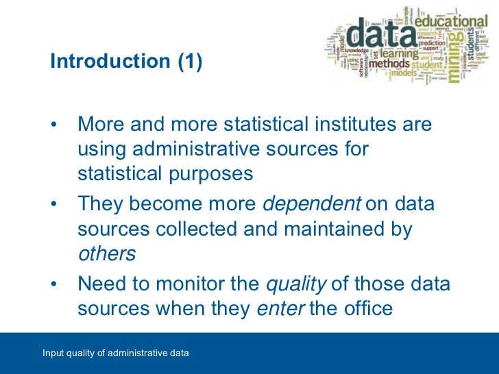 Evaluation and visualisation of the quality of administrative sources questionsinput quality of administrative data 3 publicscrutiny Gallery