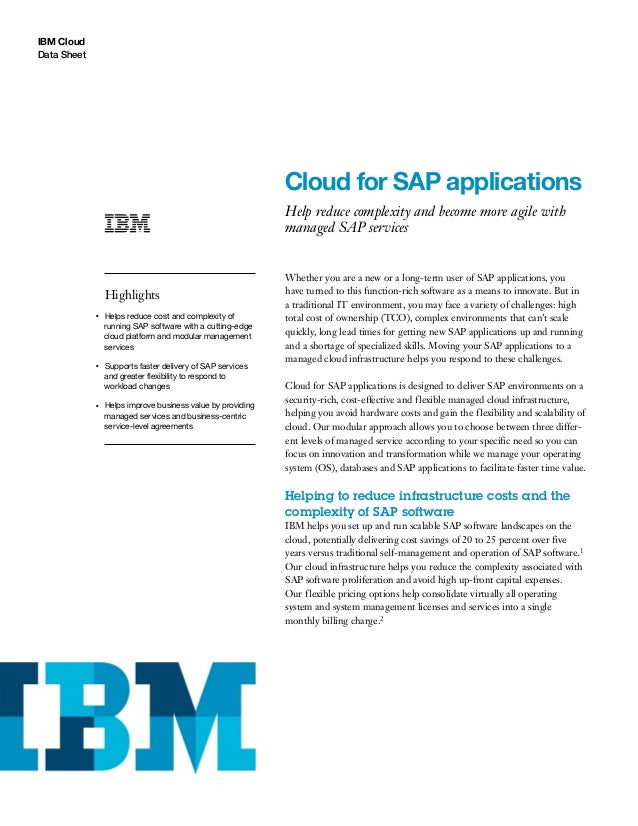 Cloud For Sap Applications