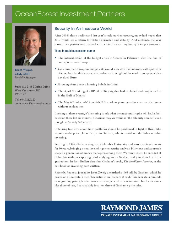 OceanForest Investment Partners                               Security In An Insecure World                               ...