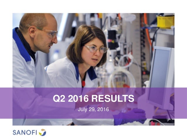 Q2 2016 RESULTS July 29, 2016