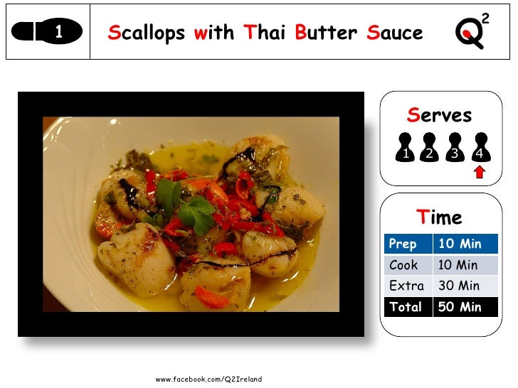 1   Scallops with Thai Butter Sauce                                       Serves                                      1   ...