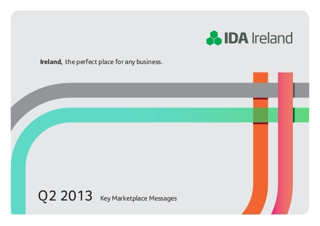 Ireland, the perfect place for any business.Q2 2013              Key Marketplace Messages