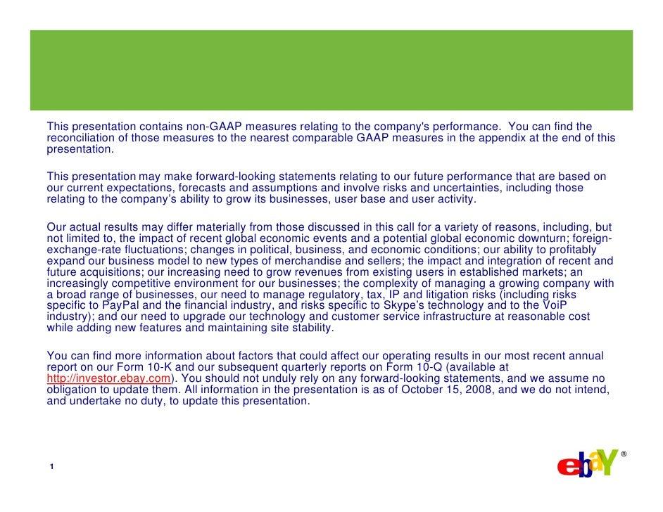 eBay 2008, Q3 Earnings Slide 2