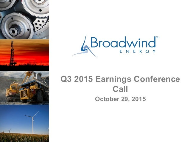 Q3 2015 Earnings Conference Call October 29, 2015