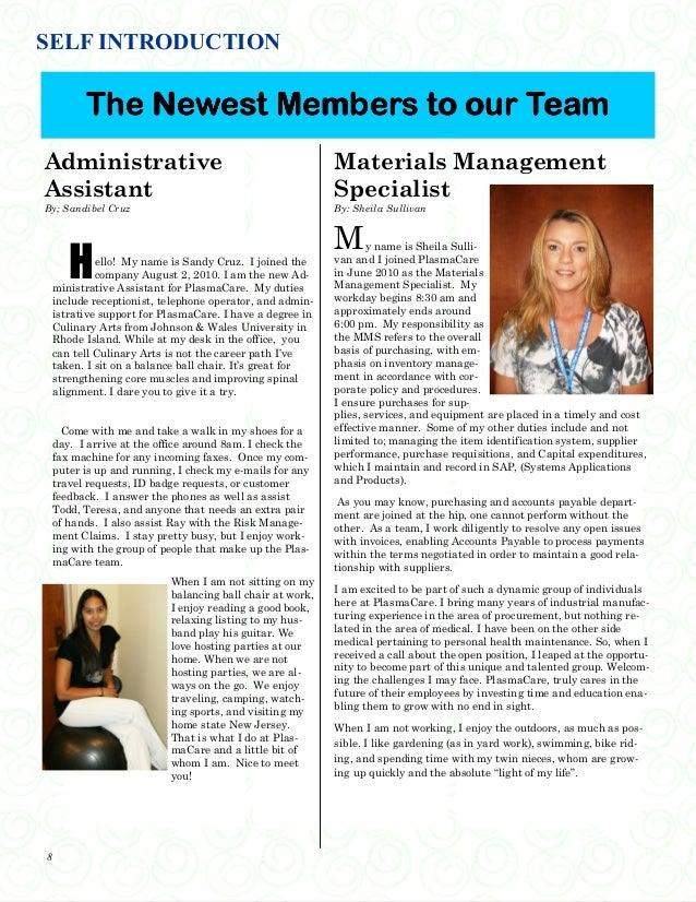 Company Quarterly Newsletter