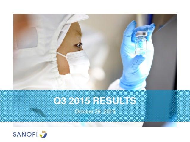 Q3 2015 RESULTS October 29, 2015