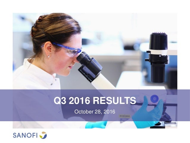 Q3 2016 RESULTS October 28, 2016