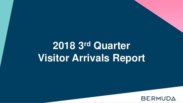 2018 3rd Quarter Visitor Arrivals Report